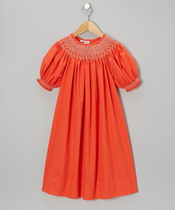 Orange Bishop Dress - Infant, Toddler & Girls