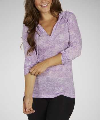 Sorbet Purple Tropic Thunder Hooded Tee