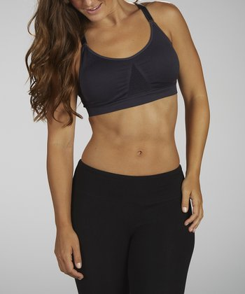 Carbon Seamless Medium Impact Sports Bra