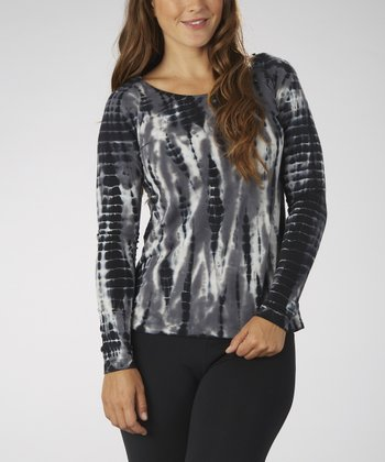 Black & White Cutout Top - Women