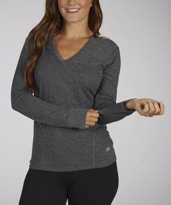 Heather Gray Ruched Tee