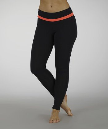 Firey Coral Platinum Performance Leggings