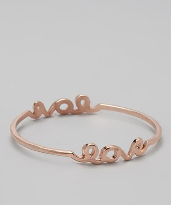 Rose Gold 'Love' Bangle