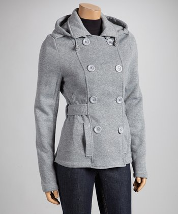 Heather Gray Fleece Coat