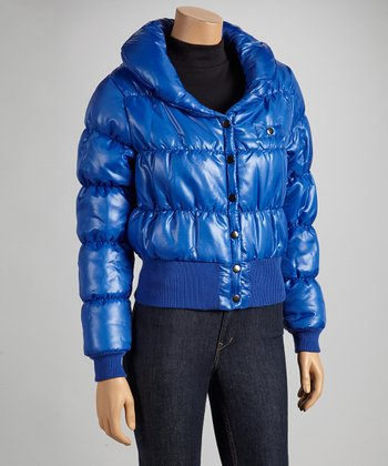 Royal Blue Puffer Coat