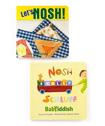 Let's Nosh! English/Yiddish Board Book Set