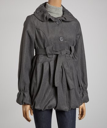 Charcoal Belted Jacket