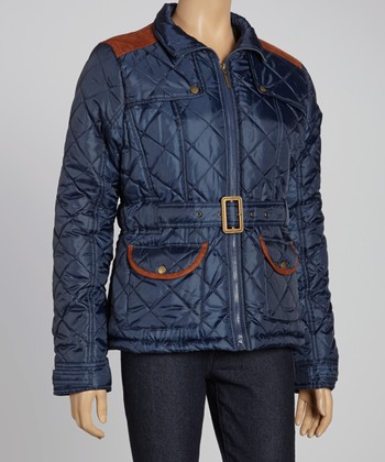 Navy & Red Puffer Jacket