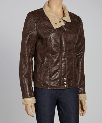 Dark Brown Bomber Jacket