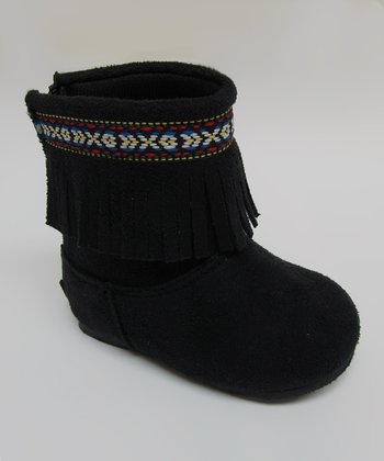 Black Ice Fringe Boot