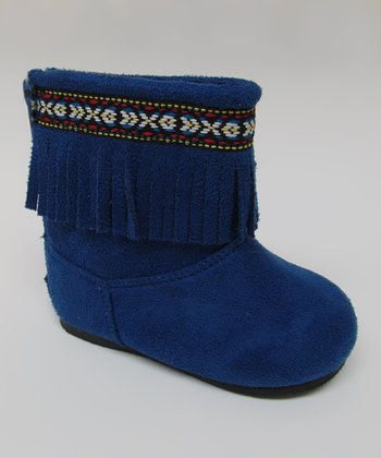 Blue Ice Fringe Boot