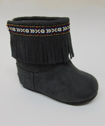 Gray Ice Fringe Boot