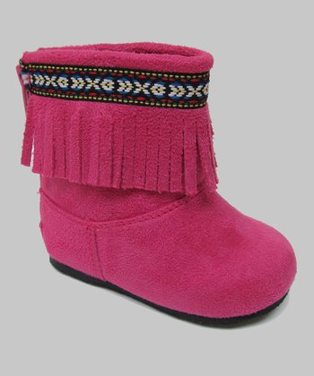 Hot Pink Ice Fringe Boot