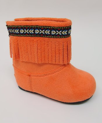 Orange Ice Fringe Boot