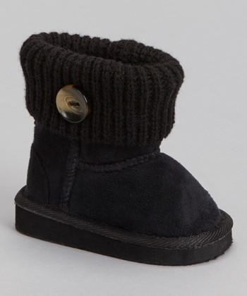 Black Knit Bootie