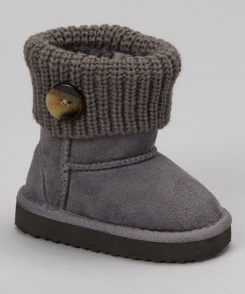 Gray Knit Bootie