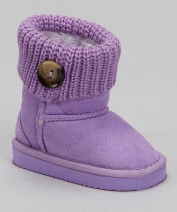 Purple Knit Bootie