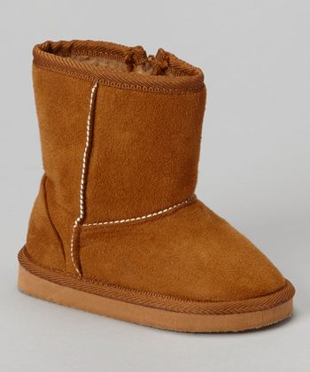 Camel Furry Boot - Kids