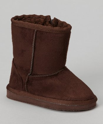 Brown Furry Boot - Kids