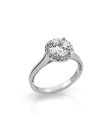 Sterling Silver Round Simulated Diamond Ring