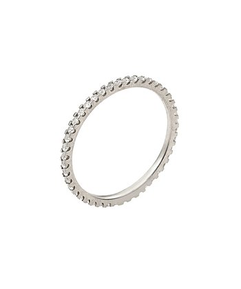 Sterling Silver Eternity Simulated Diamond Ring