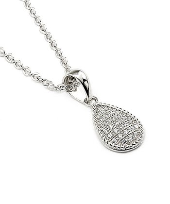 Sterling Silver Teardrop Pace Pendant Necklace
