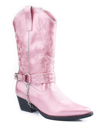 Pink Harness Cowboy Boot