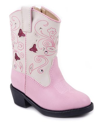 Pink Western Light-Up Cowboy Boot