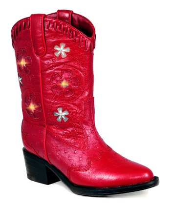 Red Western Light-Up Cowboy Boot