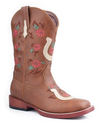 Tan Horseshoe Cowboy Boot