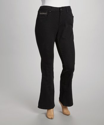 Black Lotus Bling Jeans - Plus