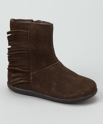 Brown Fringe Bootie
