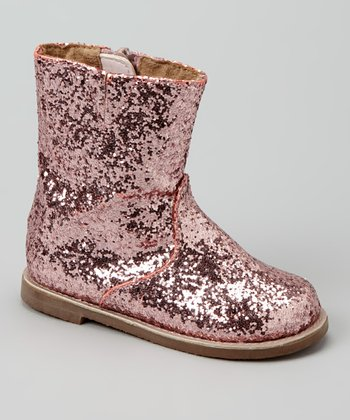 Pink Metallic Boot