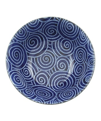 Cobalt Cloud Swirls Medium Bowl
