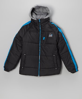 Black Protection System Puffer Jacket - Boys