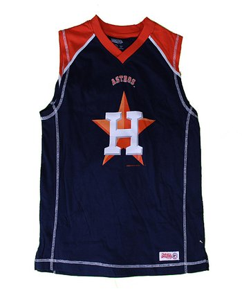 Navy & Orange Houston Astros Tank - Boys