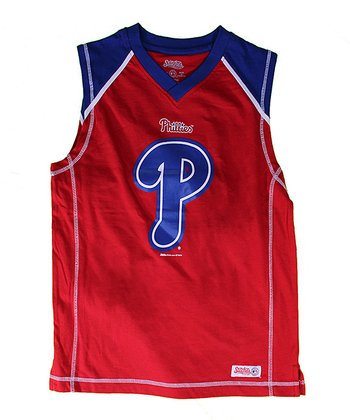 Red & Royal Philadelphia Phillies Tank - Boys
