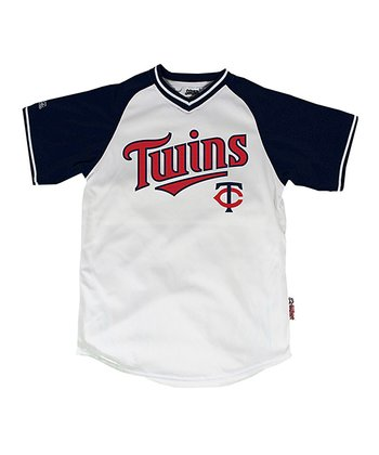 White & Navy Minnesota Twins Jersey - Boys