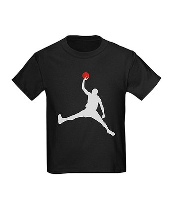 Black Basketball Tee - Boys