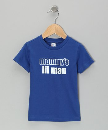 Blue 'Mommy's Lil Man' Tee - Infant, Toddler & Boys