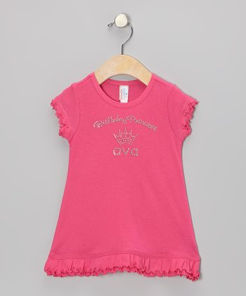 Hot Pink 'Birthday Princess' Personalized Dress - Infant