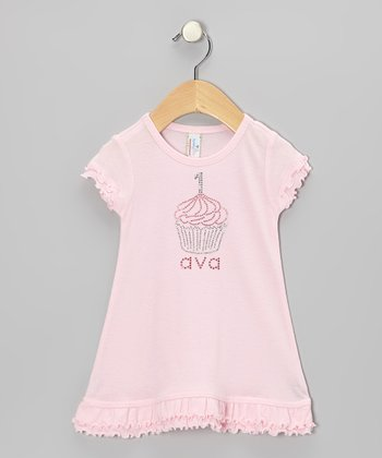 Light Pink Cupcake Personalized Dress - Infant, Toddler & Girls