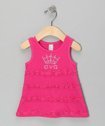 Hot Pink Crown Personalized Dress - Infant, Toddler & Girls