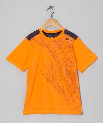 Shocking Orange Media Top