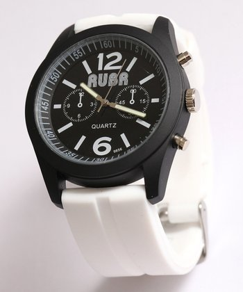 White Barcelona Analog Watch
