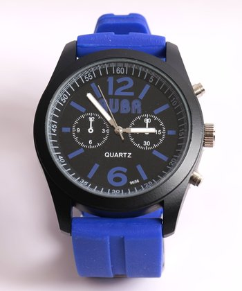 Blue Barcelona Analog Watch