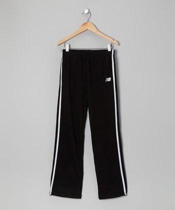 Black & White Track Pants - Toddler & Boys