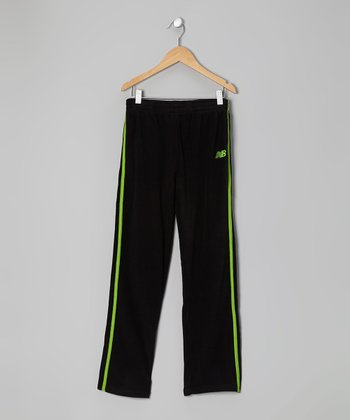 Black & Lime Track Pants - Toddler & Boys