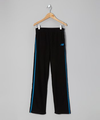 Black & Turquoise Track Pants - Toddler & Boys