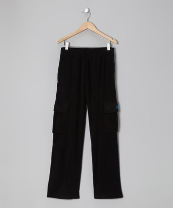 Black & Blue Cargo Warm-Up Pants - Toddler & Boys